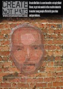 Advert for Create not hate